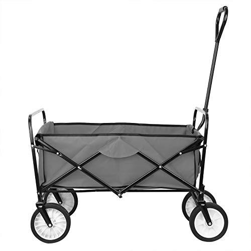 Collapsible Outdoor Utility Wagon, Heavy Duty Folding Garden Portable Hand Cart,...