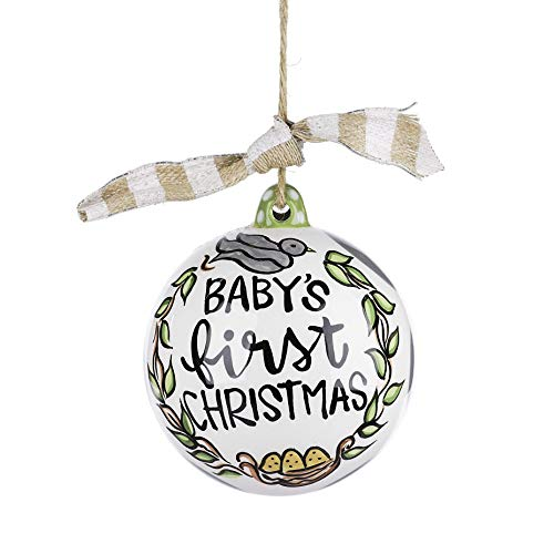 Glory Haus Baby's First Christmas Hanging Neutral Ball, Multi