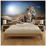 azutura Majestätischer Löwe Fototapete Safari Tier Tapete Kinder Schlafzimmer Haus Dekor Erhältlich in 8 Größen Extraklein Digital