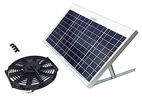 Amtrak Solar Attic Fan 50 Watt - Powerful Solar Powered Fan - Attic Roof Vent - Efficient Exhaust Fan - Highly Functional Motor for Greenhouse - Quality Garage Solar
