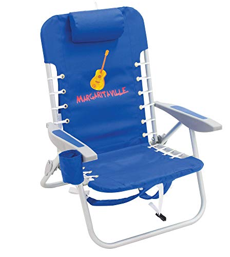 "Margaritaville Outdoor 4-Position Backpack Folding Beach Chair - Pacific Blue, 24"""" x 24.75"""" x 33"""""" (SC529MV-506-1)"