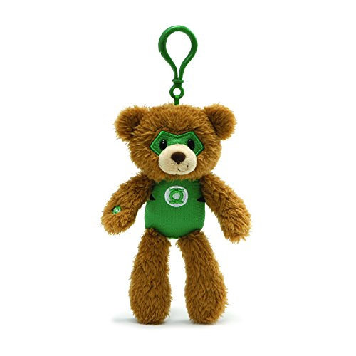 "Gund DC Comics Fuzzy Green Lantern Plush Backpack Clip, 6.5"" , Brown"