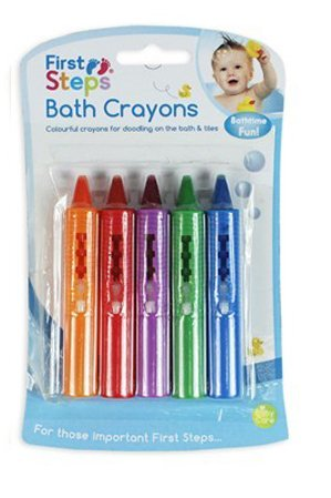 First Steps Baby Bath Crayons for Fun in Bath - Non Toxic Bath Toys by First Steps