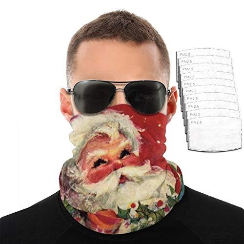 Dujiea Bandana Face Mask, Christmas Santa Claus Reusable Balaclava Neck Gaiter for Men Women