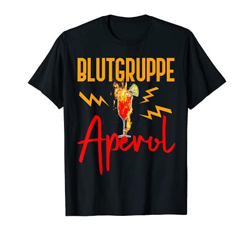 Damen Blutgruppe Aperol | Aperol Spritz | Aperol Geschenk T-Shirt