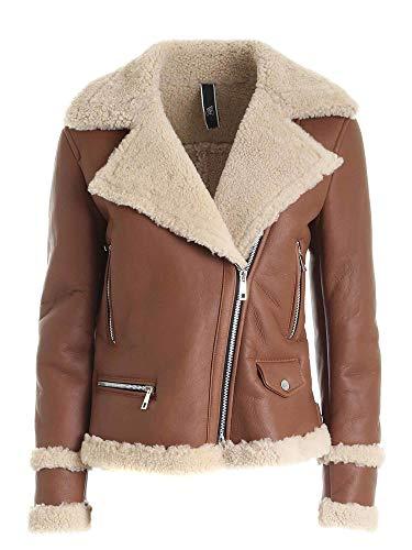 Hogan Luxury Fashion Donna KJW1241007PSBTS604 Marrone Pelle Giacca Outerwear | Primavera-Estate 21