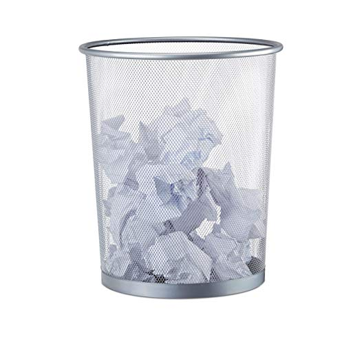 Relaxdays -   Papierkorb Metall,