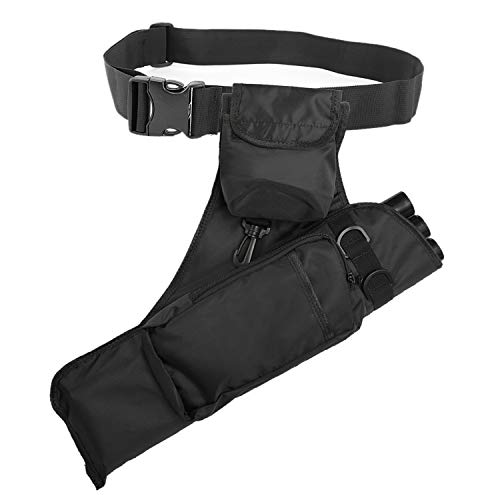 Yaegoo Oxford Hunting Archery Quiver with Shoulder Strap 3-Tube for Back or Waist Use