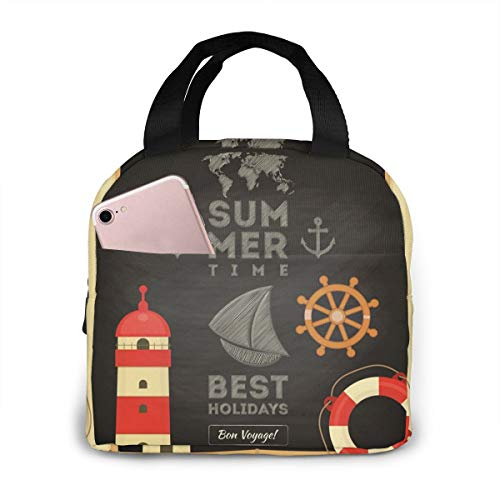 Summer Best Holiday Original Lunch Bag Insulated Lunch Box-Tough & Spacious Adult Lunchbox to Seize Your Day (Lunch Bags Designed for Men,Adults,Women)