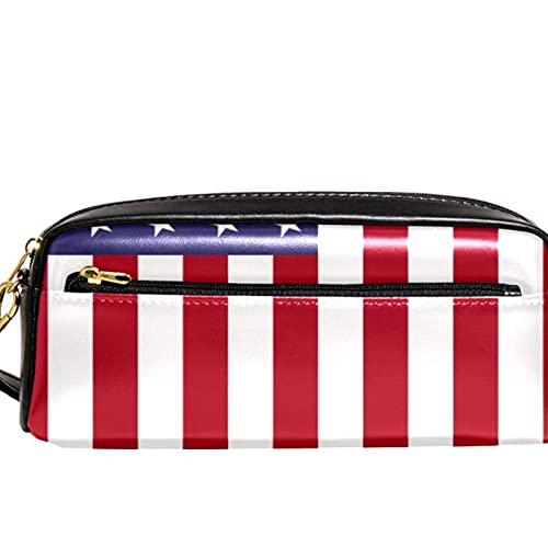 Estuche de lápiz con patrón de bandera americana, gran capacidad, organizador para bolígrafos, para la escuela, adolescentes, niños, niñas, hombres y mujeres