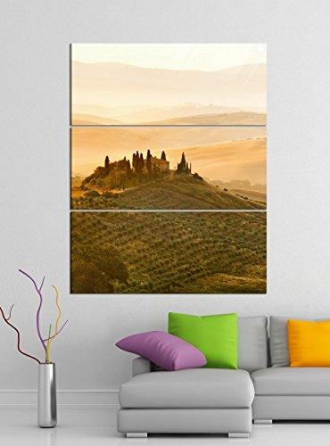 Acrylglasbilder 3 Teilig 100x120cm Landschaft Belvedere Toskana Acrylbild Acrylglas Acrylbilder Wand Bild 14E376, Acrylglas Größe 7:BxH Gesamt 100cmx120cm