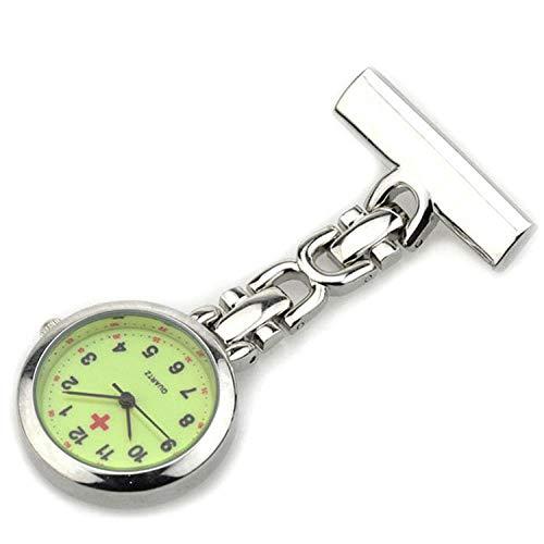 Cxypeng Reloj de Enfermera,Dial Luminoso Enfermera Mesa médico Bolsillo Reloj médico Colgante Reloj Cofre,Reloj médico para enfermería