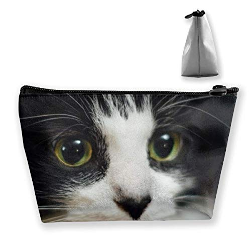Trapezoid Makeup Pouch Storage Holder Cute Cat Womens Travel Case Cosmetic Makeup Pouch