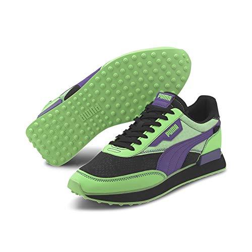 PUMA Future Rider Zapatos Deportivos para Hombre en Tejido Negro y Verde 374036-01