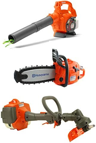 Husqvarna Kids Toy Battery Operated Leaf Blower Lawn Trimmer Line Chainsaw product image