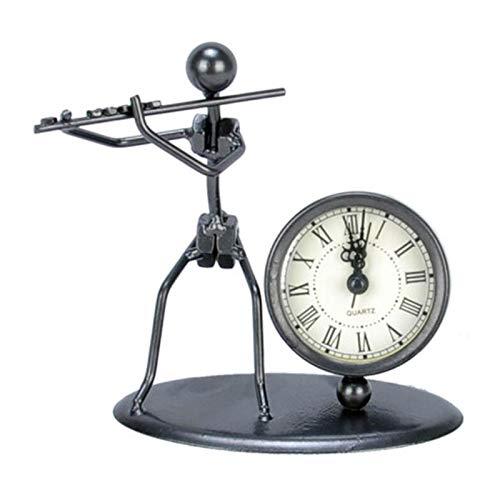 ZFF Hierro del reloj, Instrumento musical Adornos, divertido escritorio artesanías de decoración, conveniente for el Ministerio del Interior (Color : A)