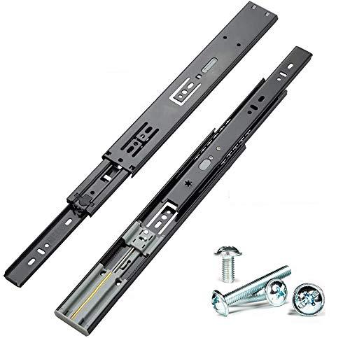 HLXB 450mm Soft Close Schubladenauszüge, Mit Selbsteinzug Dämpfung Teleskopschiene 45 Kg Tragkraft Kugelgelagerte Schubladenschienen Für Schublade/Tastaturablage