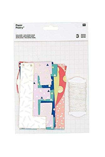 Rico Design slinger Welkom thuis, papier, meerkleurig
