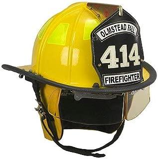 Cairns Yellow 1010 Traditional Fiberglass Helmet, NFPA, OSHA - 1010 Defender Visor, Std, Yellow, Std Flannel Liner, Yellow Nomex Earlaps