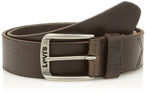 Levi's Herren Classic Top Logo Buckle Gürtel, Braun (Dark Brown), 100 cm (Herstellergröße: 100)