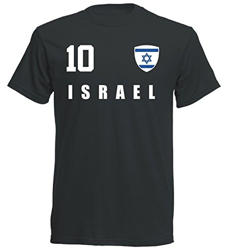Israel WM 2018 T-Shirt Trikot - schwarz ALL-10 - S M L XL XXL (XL)