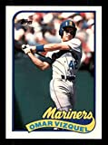Omar Vizquel Rookie Card 1989 Topps Traded #122T. rookie card picture