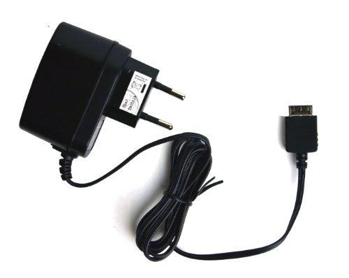 Spartechnik 230V Netzteil für Sony MP3 Player NWZ-A15 NWZ-A17 NWZ-ZX1 NWZ-F886 NWZ-E584 NWZ-E585 A15 A17 E585 E584 E886 ZX1 NW-A805 A806 A808 mit WM-PORT: Ladegerät für Steckdose 110-240 Volt schwarz