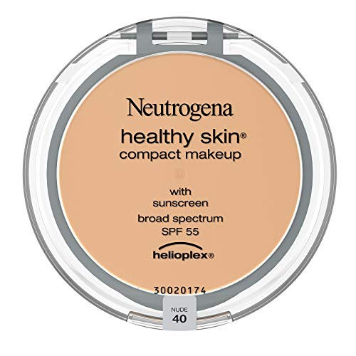 Neutrogena Healthy Skin Compact Lightweight Cream Foundation Makeup with Vitamin E Antioxidants, Non-Greasy Foundation with Broad Spectrum SPF 55, Nude 40.35 oz