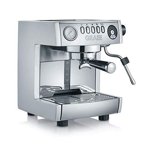Graef ES850EU Espressomaschine, Aluminium, Edelstahl, Silber