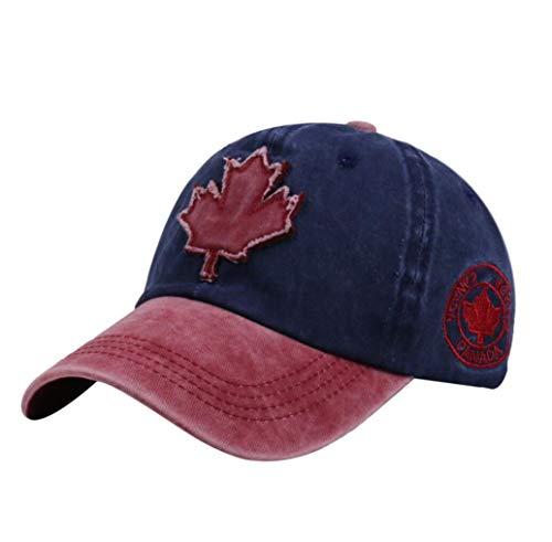 XibeiTrade Baseballkappe aus Kanada Ahorn, Baumwolle, für Herren und Damen, Sport, Outdoor, Freizeithut - - Medium