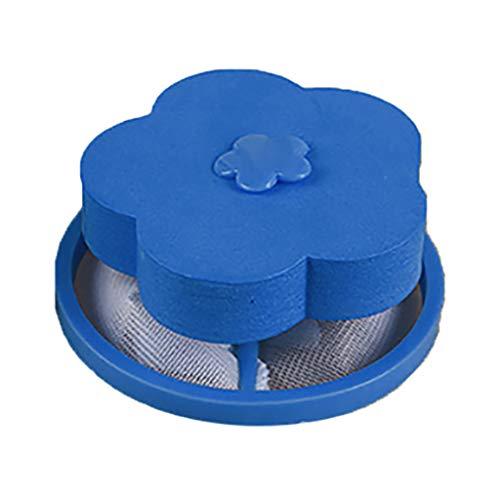 Bluestercool Attrape Poils Machine à Laver, Filet Anti Poil, Filtre à Charpie, Attrapé Poil Lave Linge RéUtilisable Filtre Boule à Linge Nettoyage Outil pour Machine à Laver (1PC, Bleu)