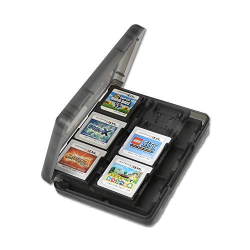 メモリーカードケース 3ds カードケース [4色からお選びください] dsソフト収納ケース 大容量 「様々なメモリーカードに対応!」 ビデオゲームカードケース メモリカード収納ケース ソフトケース MARBLE (ブラック 3DS用)