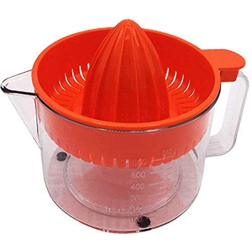 JJA Lemon Orange Squeezer, Dishwasher Safe Manual Juicer, Multifunctional Citrus Fruit Juicers, Hand Presser with Measuring Container, BPA Free – 600ml (Pink)