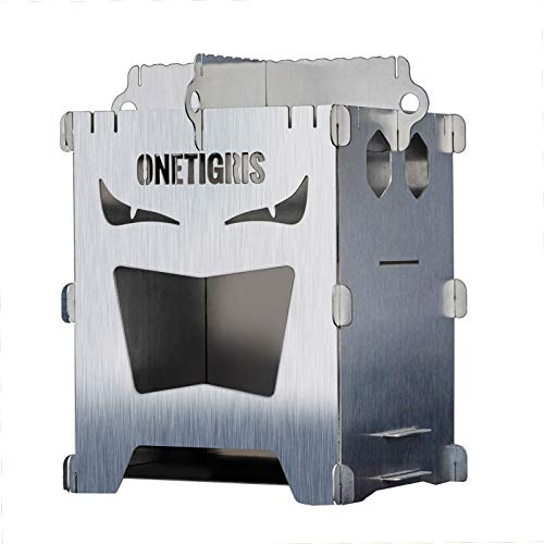OneTigris ROCUBOID Wood Stove EVIL EYES Version, Weighs 580g