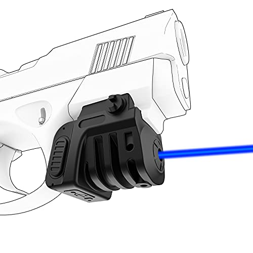 SOLOFISH Blue Laser Sight for Pistol,Super Compact Blue Beam for Pistol,Rechargeable Blue Gun Laser Sight for Rifle|Handgun with 21MM Picatinny Rail