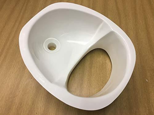 El separador de orina de fibra de vidrio original para inodoro de compost (Blanco)