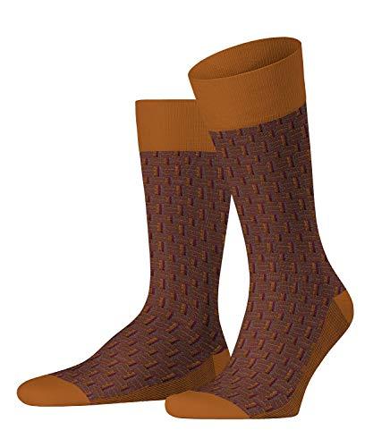 FALKE Herren Socken Strap Boundary, Baumwollmischung, 1 Paar, Orange (Mandarin 8216), Größe: 41-42