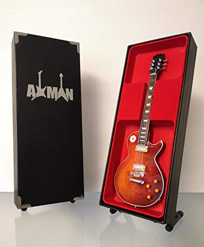 Paul Kossoff (gratis) Réplica de guitarra en miniatura con caja de exhibición y soporte