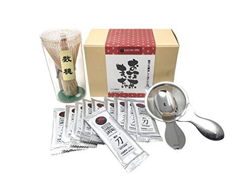 Nippon Cha - O'Matcha Matcha Set - Starter Matcha Kit - Ceremonial Matcha Tea - Matcha Whisk (Chasen) - Tea Spoon & Sifter, The Perfect Set to Prepare a Traditional Cup of Matcha - Made in Japan