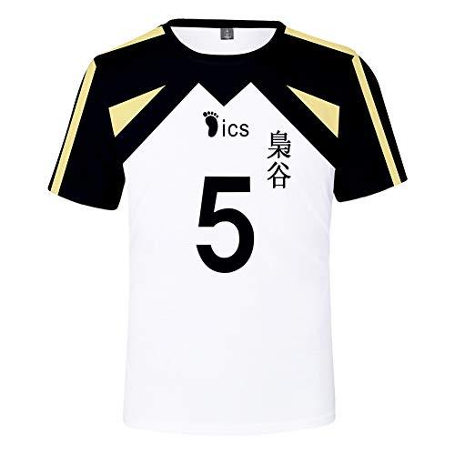 TISEAS Fukurodani Academy Hoodies and Volleyball Jersey Uniform for Teens/Mens/Womens (Shirt 5, M)