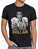 style3 Tony Get Every Dollar Camiseta para Hombre T-Shirt Pacino Pablo US Montana, Talla:M