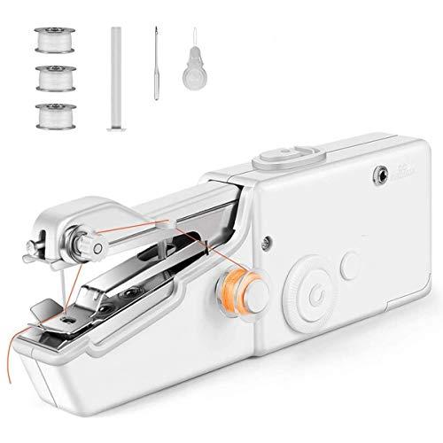 Mini máquina de coser, máquina de coser inalámbrica de mano de reparación rápida, portátil, mini máquina de coser rápida para ropa de tela, tela de niños, uso en el hogar