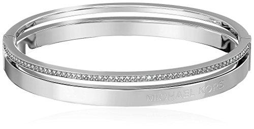 Michael Kors Jewelry Hinged Silver Bangle Bracelet