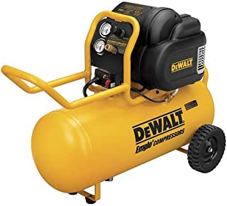 Dewalt D55167R 1.6 HP 15 Gallon Oil-Free Wheeled Air Compressor (Renewed)