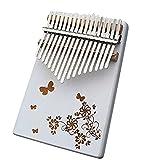 Kalimba, Piano de Pulgar 17 Teclas,Madera Piano Instrumento Musical PortáTil Que Es FáCil de Aprender Regalos para NiñOs,Adultos y Principiantes con Martillo De AfinacióN y GuíA Aprendizaje