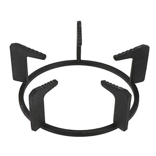 SOLUSTRE Gasherd Aufsatz Gusseisen Wok Ring Anti Rutsch Topf Rack Metall Gaskocher Aufsatzring für Gaskochfelder Gasherd Milk Pot Rack Medizin Pot Bracket Schwarz