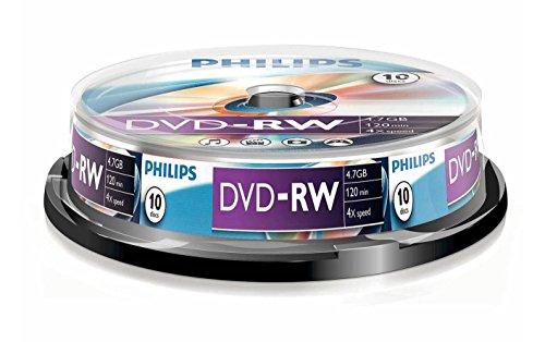 Philips DVD-RW DN4S4B10F/00 - DVD+RW vírgenes (4,7 GB, DVD-RW, 10 Pieza(s), 120 min, 140 mm, 140 mm)