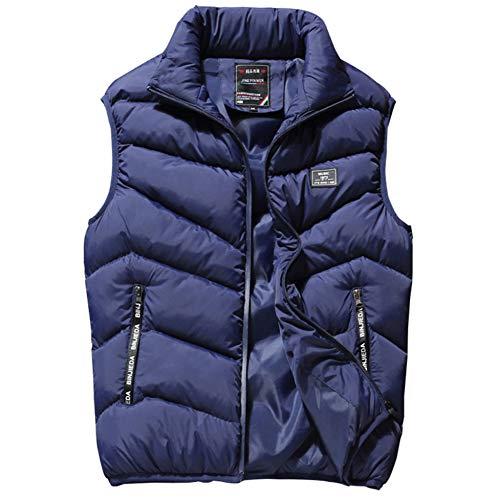 Shangyi Herenjas voor heren, herfst en winter, warme jas zonder mouwen, ritssluiting, herenjas