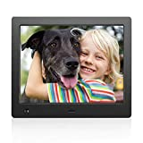 Digital Photo Frame 8 inch with Slideshow Electronic Photo Frame with HD IPS Display Picture Frame with Motion Sensor/Video/Background Music/Calendar/Clock/Gifts for Keeping Memory by FLYAMAPIRIT