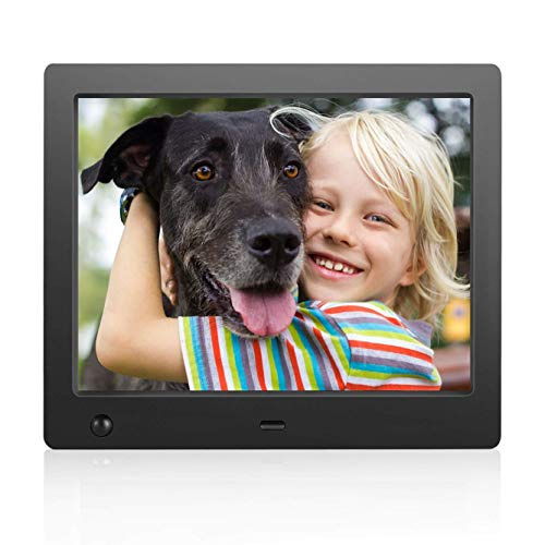 Digital Photo Frame 8 inch - Electronic Photo Frame with Slideshow HD IPS Display Picture Frame with Motion Sensor/Video/Background Music/Calendar/Clock/Gifts for Keeping Memory by FLYAMAPIRIT